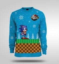Gamer heaven - Sonic the Hedgehog Official Christmas Sweater, £29.99 (http://www.gamer-heaven.net/sonic-the-hedgehog-official-christmas-sweater/)