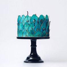 Blue Wedding Cake - Tortik Annushka Sugar art cake. How did they do this?