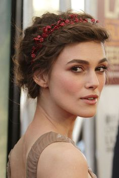 Keira Knightley With Red Blossoms