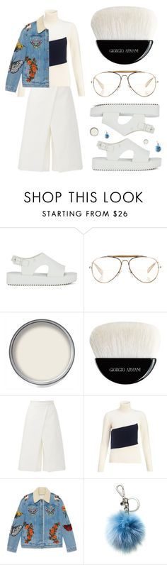 """""""You're such a pretty picture"""" by joasumner ❤ liked on Polyvore featuring Melissa, CÉLINE, Giorgio Armani, TIBI, J.W. Anderson, Gucci and Michael Kors"""