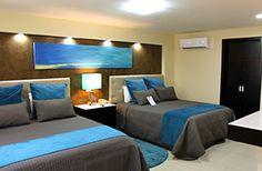 Habitación Jr. Suite 1 o 2 Camas Queen Sala Refrigerador Zinc de cocina