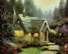 Cedar Nook Cottage by Thomas Kinkade