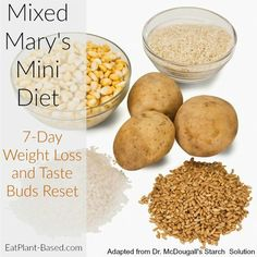 How We Lost Weight with a 'Mixed Mary's Mini' Diet Last year, my husband and I did a Mixed Mary's Mini for quick weight loss and to help gain control over his snacking habit. I just went along for the ride to help him but ended up gaining benefits as Plant Based Whole Foods, Plant Based Eating, Plant Based Diet, Whole Food Recipes, Dog Food Recipes, Diet Recipes, Potato Recipes, Vegan Recipes, Mcdougall Recipes