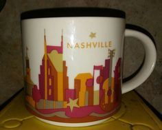 Starbucks Nashville You Are Here Collection Mug 2013 14oz (2-D) #Starbucks