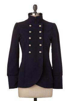 womens' mandarin collar blazer with princess seams - Google Search