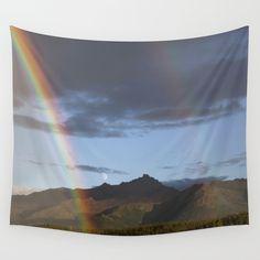 Double Rainbow in Alaska Tapestry // Caitlin Tyner Photography #art #moon #mountain #explore #travel #wonder #beauty #awe #nature #photo #wilderness #decor #decorate #home #apartment #wallart #society6