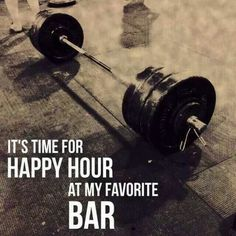 Time for happy hour at my favorite BAR. crossfit or BodyPump. This is my Bar. Crossfit Motivation, Sport Motivation, Diet Motivation, Powerlifting Motivation, Gym Motivation Quotes, Fitness Workouts, Sport Fitness, Health Fitness, Gym Fitness
