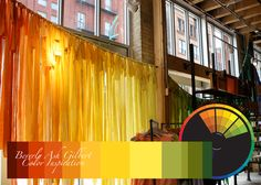Color Inspiration - Anthropologie Rainbow Window Display, color wheel, color palette