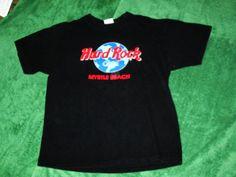 Hard Rock Cafe Myrtle Beach shirt black planet large  #HardRockCafe #GraphicTee