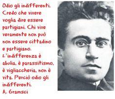 Credo che vivere voglia dire essere partigiani. #Gramsci #25AprOnAir My Values, Dalai Lama, My Passion, Human Rights, Sentences, Revolution, Thats Not My, Nostalgia, Writer