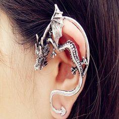 Metal Dragon Women Ear Cuff Clip Earring