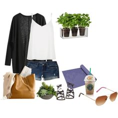 Everyday casual layered look for a hot day by amina-hamburguesa-bepunkt on Polyvore featuring Mode, River Island, Aéropostale, Gianvito Rossi, Lilly Pulitzer, Diane James, Boskke and Gaiam