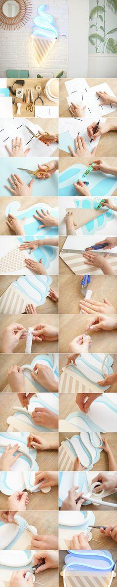 DIY Ice Cream Néon http://makemylemonade.com/comment-faire-une-glace-en-neon/