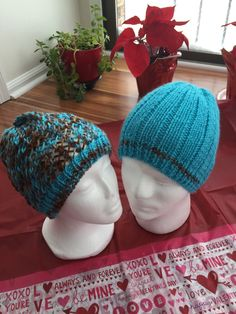 Valentine's Day Hat for couples handmade knit winter beanies women hat men hat by NJKNITHOUSE on Etsy https://www.etsy.com/listing/265136695/valentines-day-hat-for-couples-handmade