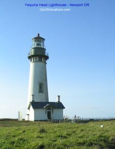 Yaquina Head Lighthouse - north of Newport Oregon  -- on Oregon Lighthouse Pictures page - http://www.memorable-beach-vacations.com/oregon-light-houses-8.html
