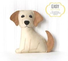 Dog Sewing Pattern Golden Lab Hand Sewing by LittleSoftieShoppe