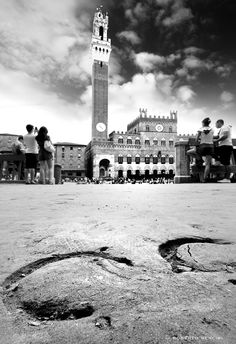 Siena, il Palio... I love this shot...I took one of just the hoof prints..this really captures Siena at Palio time!