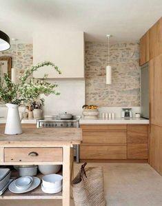 To apply wooden kitchen interior design ideas to your own kitchen is the best choice. Get a dreamy wooden kitchen in your house. Wooden Kitchen, Rustic Kitchen, Diy Kitchen, Kitchen Decor, Kitchen Ideas, Kitchen Backsplash, Kitchen Cabinets, Backsplash Ideas, Kitchen Planning