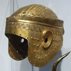 Sumerian Helmet in the University of Pennsylvania Museum, November 2009  #Sumerian