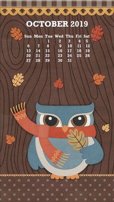 2019 October iPhone Calendar Wallpaper