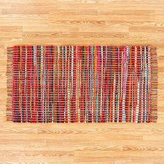 Multi-Colored Chunky Chindi Rug | World Market