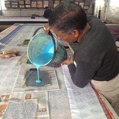 Magic - the magic behind block printing in Jaipur. #blockprints #ecru #jaipur