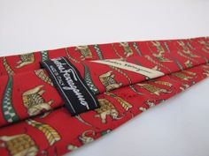 SALVATORE FERRAGAMO Tie Flawed Priced to Sell Elephants Marching with Flags #SalvatoreFerragamo #Tie