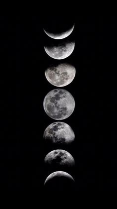 Phases of the moon by eftypography face da lua, the moon, all moon phases Phone Backgrounds, Wallpaper Backgrounds, Black Wallpaper, Mobile Wallpaper, Screen Wallpaper, Iphone Wallpapers, Happy Art, Moon Art, Moon Phases Art