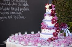 Chalkboard walls are a great way to list guest table numbers, menus, etc! #wedding