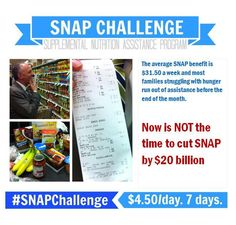 Now is NOT the time to cut SNAP by $20 billion.