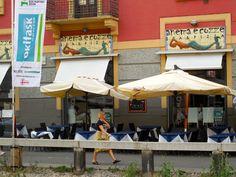 Restaurants along Porta Ticenese canal, Navigli district in Milan. © 2014 Stella Lucente, LLC www.learntravelitalian.com