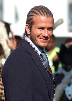 David Beckham's cornrows are a tragedy. We miss his classic hair!