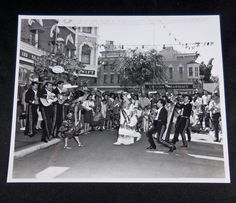 Vintage c.1962 DISNEYLAND Mexican Mariachis on Main Street USA Publicity Photo