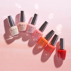 Best Nail Polish Colors of 2020 for a Trendy Manicure Opi Nail Colors, Spring Nail Colors, Spring Nails, Nail Polishes, Summer Colors, Peach Nail Polish, Best Nail Polish, Coral Nails, Peach Nails