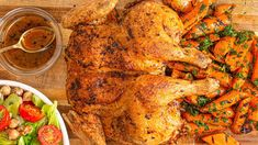 Richard Blais lost 80 lbs with healthy meals like this spatchcock chicken with grilled carrots + tomato-celery salad. Easy Chicken Recipes, Turkey Recipes, Dinner Recipes, Turkey Meals, Healthy Chicken Dinner, Healthy Meals, Healthy Recipes, Dinner Healthy, Vegan Meals