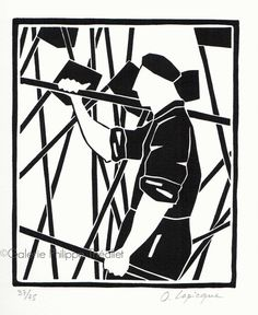 Trois nouvelles estampes d'Olivier Lapicque sont disponibles à la galerie. Elles traitent de la thématique (chère à l'artiste) des caseyeurs... Le Point, Carving, Illustration, Architecture, Triptych, Celtic, Olive Tree, Prints, Paint
