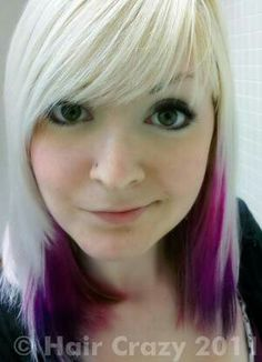Not so much with the blonde, but the placement and vividness of the purple