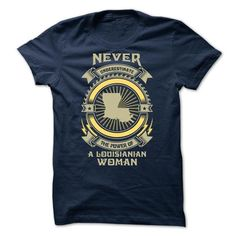 NEVER UNDERESTIMATE THE POWER OF A Louisianian WOMAN S3 - #hipster shirt #sweatshirt embroidery. SAVE => https://www.sunfrog.com/LifeStyle/NEVER-UNDERESTIMATE-THE-POWER-OF-A-Louisianian-WOMAN-S3--Limited-Edition.html?68278