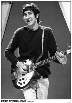 Pete Townsend: Guitarist for The Who Peter Townshend, Rock N Roll, John Entwistle, The Kinks, Roger Daltrey, British Rock, My Generation, Look At You, My Favorite Music