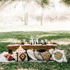 We love an #outdoor #dinnerparty with lots of fun pillows and this shot from today's feature is pretty perfect and has us dreaming of summer parties  Shop some of our fave pillows & rugs here  @liketoknow.it www.liketk.it/2fezm #liketkit ... OR with the link in our profile. Photo & Styling thanks to @gloriagoodephoto #onGWS #pillowlove #LTKhome by greenweddingshoes
