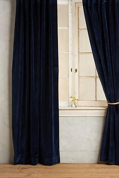 Washed Velvet Curtain - anthropologie.com