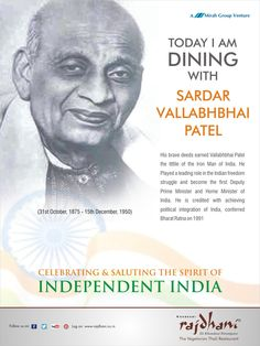 Sardar Vallabhbhai Patel was known as the Iron Man of India. He became the first Deputy Prime Minister and Home Minister of India.