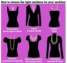 How to choose the right necklace for different necklines.