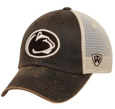 super popular ec443 94bcb Penn State Nittany Lions Top of the World Brown Scat Mesh Adjustable Hat Cap