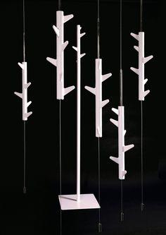 h 17 cm Bosign Branch Hanger Wandhaken schwarzbraun 8,5 x 6 cm