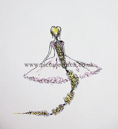 Embroidery Digital File   Rapunzel Tangeled by NicolaElliott