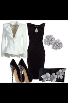 Black and white women's outfit