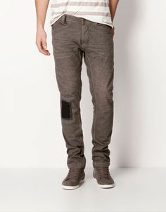 Bershka Turkey - Slim fit jeans with patch