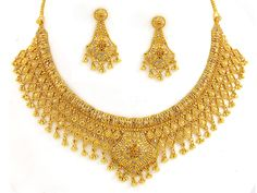 Gold Jewelry | Indian Jewelry - 22kt Gold Necklace Set