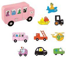 Barbapapa transport puzzels.   Verkrijgbaar bij www.vanallesvan.nl #barbapapa #bus #auto #tractor #boot #vliegtuig #kinderen #kids #puzzel #puzzle #peuter #kleuter #dreumes #barbotoys #puzzelen #cadeau